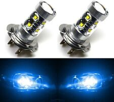 LED 50W H7 Blue 10000K Two Bulbs Light Turn Cornering Lamp Replace Show Use