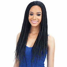 Synthetic 18Inches Lace Front Wig Full Head Senegalese Twists Crochet Braid Wigs