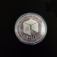 2 x NEO Coin Shiny Commemorative Round Collectible Coin Virtual Coins Souvenir