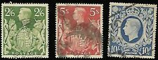 GREAT BRITAIN 1939 - 42 KING GEORGE VI AND ROYAL ARMS