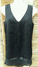 WAREHOUSE BNWT Ladies Black Leopard Print Sleeveless Top Size 8 RRP £28