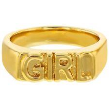 """14k желтое золото покрытием """"девочка"""" с гравировкой лента кольца для девочек"""