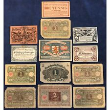 German Hyperinflation Currency Variety Lot - Vibrant Colors - Free Ship USA
