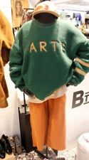 Korea Fashion Green Faux Fur Pile Sweatshirt Size XL Uk 8-12