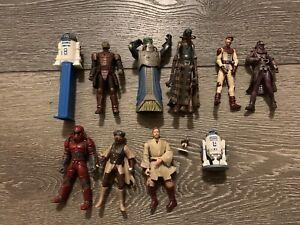 Star Wars Toy Lot, Luke Skywalker Obi Wan Kenobi R2D2 Lando +BONUS Free Shipping
