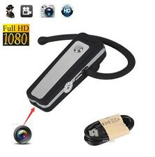 1080P HD Mini Hidden Bluetooth Spy Headset Camera Wearable Video Recorder DVR