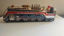 TM Mod Toy Japan. Piston Silver Mountain Tin Train and conductor. Rare.