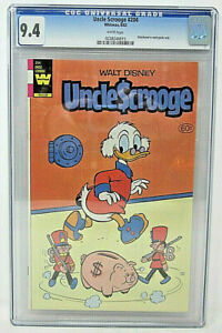 Walt Disney Uncle Scrooge 204 Whitman 60 cent Comic 9.4 NM CGC Graded 0228246015