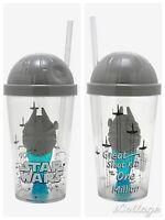 2 STAR WARS Zak! Tumbler – Cup Screw Top Straw w/ Emerging Millennium Falcon NEW