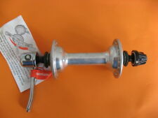 cubo Rueda Delantera Vintage buje Shimano Vía 36 HOYOS CON TENSOR pulido NUEVO