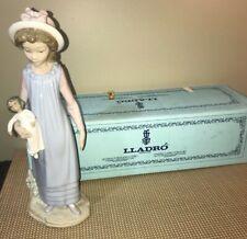 Lladro 5045 Belinda with Her Doll Retired! Original Blue Box - Near Mint