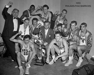 1955 PHILADELPIA WARRIORS NBA CHAMPS 8X10