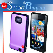 Premium PURPLE Hard Hybrid Cover Case For Samsung Galaxy S2 i9100 + Screen Film