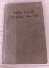 Salem County (New Jersey) Marriage Records 1928 Paperback Book Good Condition