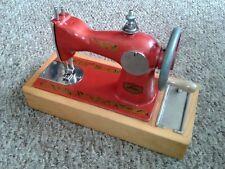 Children mini Sewing Machine Toy box Soviet Russian USSR wood metal