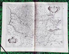 XVI ème - L'Artois Superbe Carte par Gérard Mercator 51 x 39,3 cm Editée en 1585