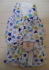 Boys Girls Ron Ron Luxurious Super Soft Faux Mink Star Hooded Bath Robe 0-18M