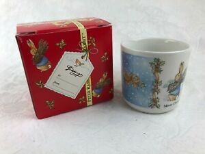 VINTAGE PETER RABBIT - CHRISTMAS MUG IN BOX MERRY CHRISTMAS 1996 - WEDGWOOD