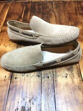 NWOB ECCO Men Sz 46 / 12 / 12.5  Tan Leather Suede Moc Toe Driving Loafer Shoes