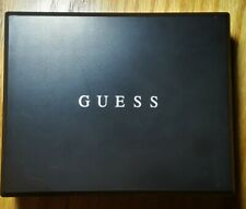 New with gift box Men's Guess Black Leather Passcase Wallet with RFID protection