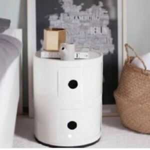 MODERN BEDSIDE CABINET ROUND DRAWER STAND BATHROOM TABLE STYLE COMPONIBILI NEW