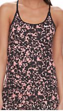 Womens Nike Miller running tank X-Large exercise workout top shirt Pink/Black