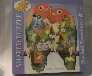 750 piece shaped jigsaw puzzle Jack Williams LOVE BIRDS