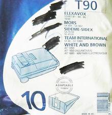 T90 MENALUX 10 sacs pour aspirateur ELEXAVOX MORS SIDEM SIDEX TEAM INTERNATIONAL