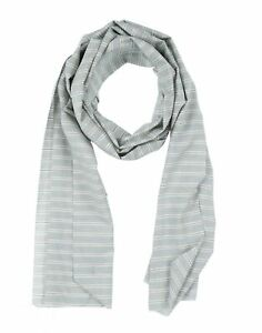 MAESTRAMI Scarf Striped Pattern Raw Edges Rectangle Shape Made in Italy