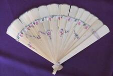 1930s Vintage Ladies Celluloid Hand Painted Folding Fan