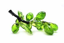 Vintage Retro Blown Glass Grapes on Stem Green