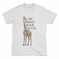 Colourful Giraffe Tshirt Inspirational Love Hippie Womens Mens