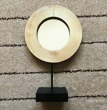 Dressing Table Round Wooden Standing Mirror