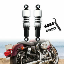 10.5'' Chrome Rear Shock Absorbers Lowering Fit For Harley Sportster 883 1200