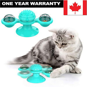 Pet Cat Dog Toy Turntable Windmill Ball Spinning Interactive Pet Massage Toys