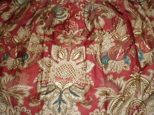 """Ralph Lauren Jardiniere Rossellini Paisley Floral QUEEN BED SKIRT Sateen 14"""" NEW"""