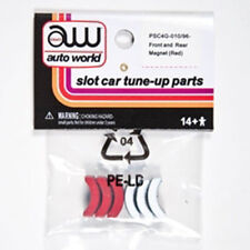 Auto World 4Gear Chassis Tuneup Parts Front/Rear Magnet 6pc Ho Slot Car