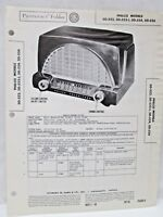 Sams Photofact Folder Radio Parts Manual Philco 50-522 50-522-1 50-524 50-526