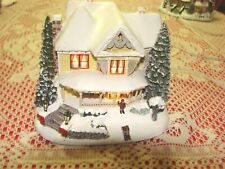 Thomas Kinkade Hawthorne Village Victorian Homestead Christmas Lighted