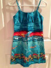 KY'S Hawaiian Dress Girls Dolphins Cruise Tropical Size 12 Sundress Vacation