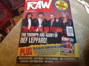 RAW - ISSUE #93 - 18-31 MARCH 1992 - DEF LEPPARD - 'TIL DEF US DO PART