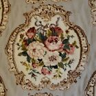"""Vintage Hand Made Needlepoint Aubusson Rug Roses 46""""x68"""" Excellent"""
