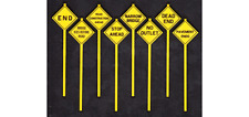 Tichy Train Group Written Warning Signs Kit #3553 8 Pieces S Scale New