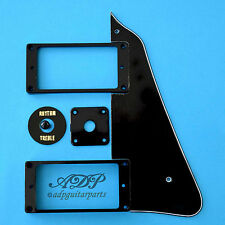 Set BLACK style LES PAUL PICKGUARD, Ring: HUMBUCKER TOGGLE JacKPlate, Tip