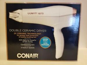 Conair 1875 Watt Double Ceramic Hair Dryer with 3 Heats and 2 Speeds