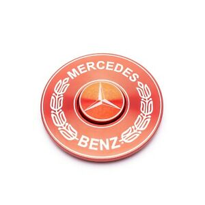 Red / Black Mercedes Logo Fidget Spinner EDC Bearing Autism Focus Stress Kids
