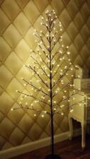 5ft Natale Ramoscello Albero con 120 Bianco Caldo Luci Led Casa Festa