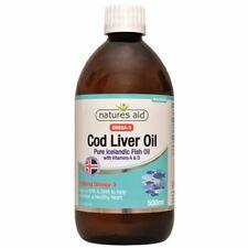 Natures Aid huile de foie de morue liquide - 500 ml - 10159