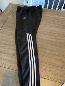 Adidas Men's Black Polyester Soccer Track Pants Joggers Adult Size Medium