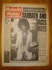 MELODY MAKER 1973 JUL 14 SABBATH FACES BOWIE SLADE